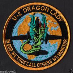 U-2 DRAGON LADY #2 - IN GOD WE TRUST - OTHERS WE MONITOR - USAF - NRO PATCH