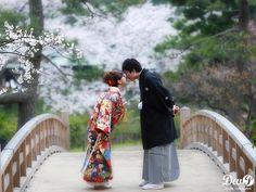 和装ロケーションフォト 結婚写真 和装前撮り 東京 フォトウエディング専門フォトスタジオのスタジオAQUA