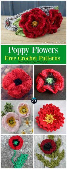 74 Best Crochet Poppy Images Crochet Flowers Poppies Crochet Motif