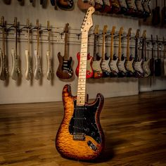 Fender Stratocaster — quilted maple top on a Honduran mahogany body!