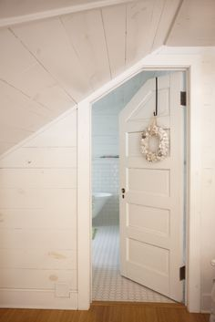 New Bedroom Door Decorations Loft Ideas Attic Doors, Bedroom Doors, Loft Doors, Attic Renovation, Attic Remodel, Attic Bedrooms, Bedroom Loft, Attic Bathroom, Upstairs Bathrooms