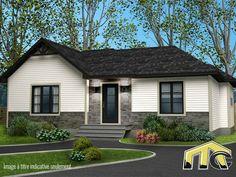 Le modèle de maison modulaire Maya est notre nouvel incontournable: il s'agit de la crème des modèles. Contactez-nous pour obtenir le prix de ce modèle. One Story Homes, Construction, House Goals, Bungalow, Sweet Home, Exterior, House Design, Mansions, House Styles