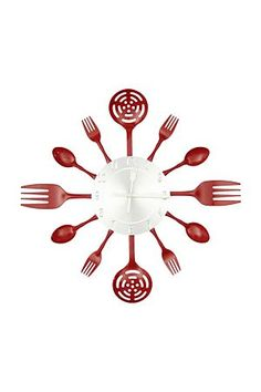 """Add a quirky sense of charm to your kitchen with our unique fork, spoon and ladle clock.<div class=""""pdpDescContent""""><BR /><b class=""""pdpDesc"""">Dimensions:</b><BR />L37.5 cm</div>"""