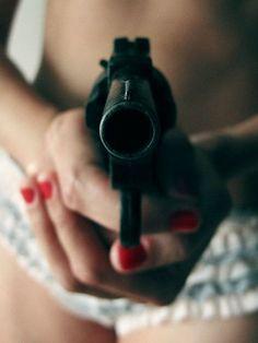 girl, девушка, First Set on Favim.com, пистолет, оружие, убью
