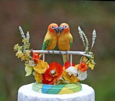 parrot wedding cake topper - Google Search