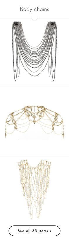 """""""Body chains"""" by glitter-sparkles-1 ❤ liked on Polyvore featuring jewelry, necklaces, accessories, jewels, multi, beading jewelry, jewel necklace, beaded necklaces, beads jewellery and beading necklaces"""