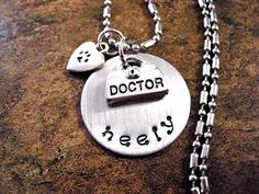 Personalized Vet Jewelry Veterinarian Jewelry by CharmAccents, $21.00