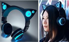 Cat Ear Headphones Are A Thing Now. <<< Don't think I would actually wear them though