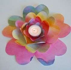 easy craft projects for the home such as this flower table centrepiece are gorgeous to have in the home. Purposeful crafts make my heart sing! Winter Crafts For Kids, Summer Crafts, Diy Crafts For Kids, Holiday Crafts, Art For Kids, Easy Craft Projects, Simple Projects, Craft Ideas, Waldorf Crafts