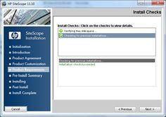 Sitescope Installation
