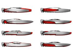 Racing Boat Concepts - Side Views