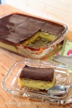 Pastel de queso y toffee