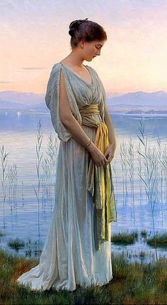 British Painter William Henry MARGETSON (1861-1940)   He studied at the South Kensington Schools and at the Royal Academy, where he exhibited from 1885. The subjects of his paintings were mostly beautiful women. He also produced a few religious paintings as well as allegorical and classical canvases