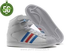 Boutique Salut Hommes Adidas Superstar Chaussures Bleu Blanc Rouge (Superstar 2 Adidas)