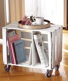 This would be great in the corner by the recliner instead of an end table - could be moved out of the way