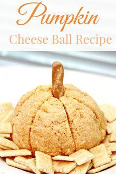 Pumpkin Cheese Ball Recipe & Fall Gift Idea! #recipe #cbias #shop