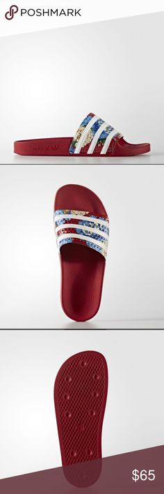 Brand new Adidas Adilette Slides Brand new. Price is firm. Size is womens 7 but runs big. Can fit a women's 8. Adidas Shoes Sandals