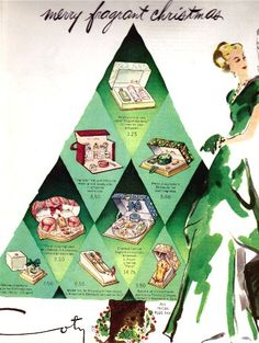 1947  Coty Holiday Gift Ad