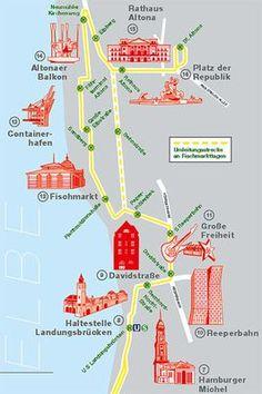 111-Stadtplan mit den eingezeichneten Highlights