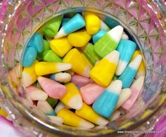 Not all rabbit like carrots.  Our's is a fan of CORN...Bunnycorn. Your fall favorite, re-invented for Spring.  Candycorn in bright, Easter colors, pink, yellow, blues and greens. Packaged to order in a 1 Pound gift bag.  $3.95 per Pound