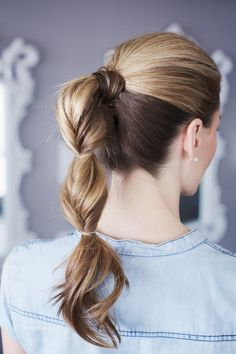 10 Cute Ponytail Hairstyles for New Ponytails to Try This Summer - Cool Global Hair Styles 2019 Cute Ponytail Hairstyles, Cute Ponytails, Up Hairstyles, Pretty Hairstyles, Twisted Ponytail, Summer Hairstyles, Bubble Ponytail, Perfect Ponytail, Ponytail Ideas