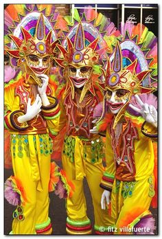 MassKara Festival held the third week of October in Bacolod City, Philippines.  (My hometown - the city of smiles!!!)