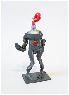 THE+WALKING+PAINT+(fluor+red) One+of+a+kind.+Numbered+1/1+and+signed Poliurethane+and+epoxi+resin+15,5+cms+tall+toy+sculpture. Hand+painted+and+barnish+by+the+artist+at+his+studio+in+Seville,+Spain.+