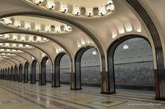 Mayakovskaya metro station, Moscow - Russia