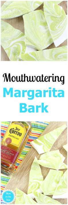 If you are planning an upcoming adult pool party of backyard bbq, whip up this Margarita Bark recipe and toss it in the fridge beforehand. via @momontheside
