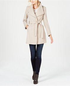 daa15cf2127 Calvin Klein Belted Wrap Coat