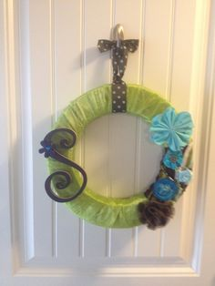 Spring wreath for front door. Now if Spring would come!