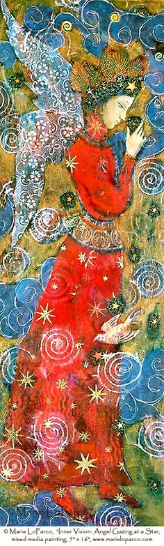 Inner Vision  Angel Gazing at a Star by MarieLoParco on Etsy, $50.00