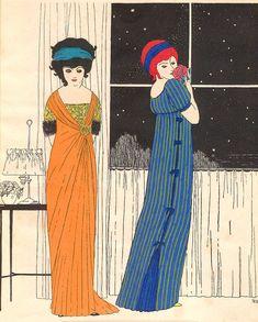 "Paul Iribe, ""les robes de Paul Poiret"", Plate II 1908"