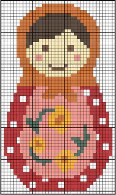 Free Babushka cross stitch pattern