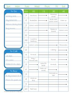 More free schedule templates to help keep you on track.