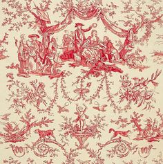 My Favorite Print....throughout my life....i used to daydream in the landscapes and still!!!! <3 : }}  Toile de Jouy. xo.