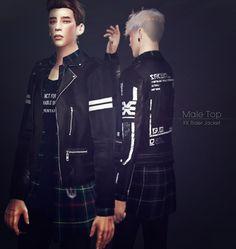 Rider Jacket 9set male at KK Sims via Sims 4 Updates  Check more at http://sims4updates.net/clothing/rider-jacket-9set-male-at-kk-sims/