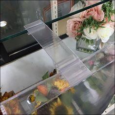 Glass-Shelf Vinyl-Pouch Sign-Holder Retail Fixtures, Vinyl Labels, Glass Shelves, Shelf, Pouch, Sign, Plates, Licence Plates, Shelving