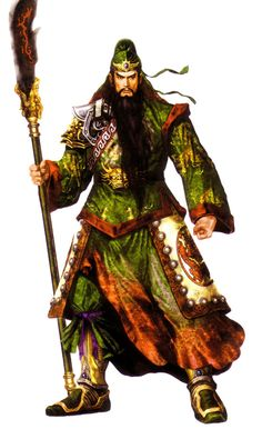 Guan Yu, one of the most notable figures from the Romance of the Three Kingdoms epic, the writing of which is attributed to Luo Guanzhong. He famously became brothers with Zhang Fei and Liu Bei as they swore an vow of loyalty to one another ( Oath of the Peach Garden ).