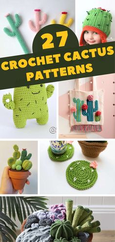 Crochet Cacti/Succulent Plant in Pot by LunasCrafts. Oh my gosh ... | 495x236