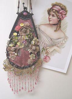 Victorian Pink Purse