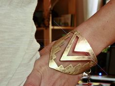 Warrior Cuff Bracelet - Southwestern Native American Inspired - Hammered Metal - RaeBird Jewelry - Free Shipping