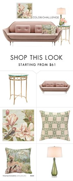 """blush green"" by shannonsmilez ❤ liked on Polyvore featuring interior, interiors, interior design, home, home decor, interior decorating, Zephyr, colorchallenge and greenandblush"