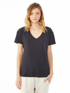 Perfect Organic V-Neck T-Shirt by alternative apparel