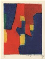 Composition rouge, jaune et bleue von Serge Poliakoff