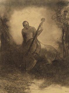 Le Centaure au Violoncelle, Odilon Redon (via…