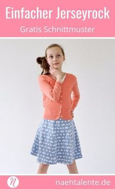 Freebook - simple jersey skirt for girls in size - sewing instructions and . Love Sewing, Sewing For Kids, Sewing Patterns Free, Free Pattern, Magazine Couture, Jersey Skirt, Orange Fabric, Simple Gifts, Sew Simple