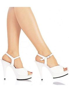 13bce1c2384e High Heel White Patent Leather Platform Sexy Sandals White Heels
