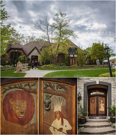 Photograph of the Monte Bello Estate's Chronicles of Narnia themed carved doors.