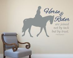 LARGE English/Hunter Rider horse decal  by thelatestBuzz on Etsy, $45.00